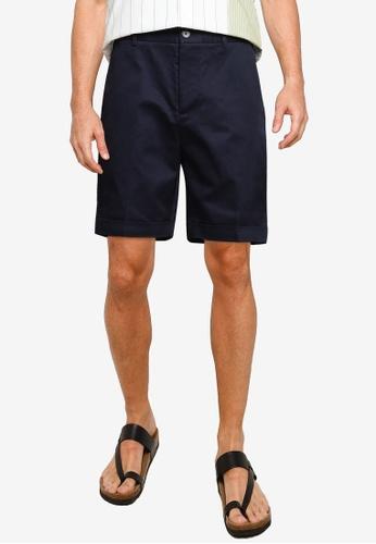 URBAN REVIVO blue and navy Casual Shorts 248E1AA380EB8FGS_1