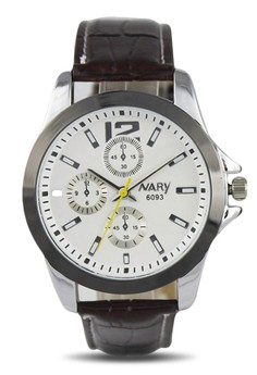 NARY Women's Classic Leather Quartz Watch - 6093