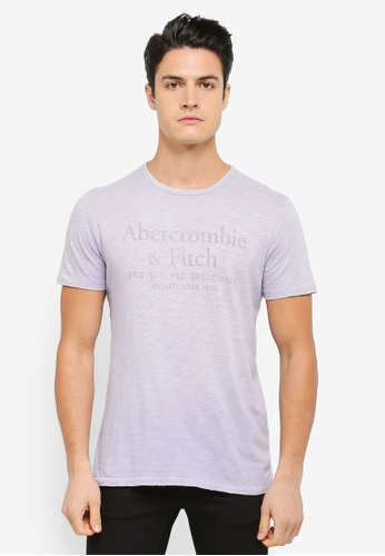 Abercrombie & Fitch blue Washed Brand Logo T-Shirt AB423AA0SZO6MY_1