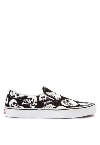 VANS black Skulls Classic Slip-On Sneakers D17BCSH5BFA9D3GS_1