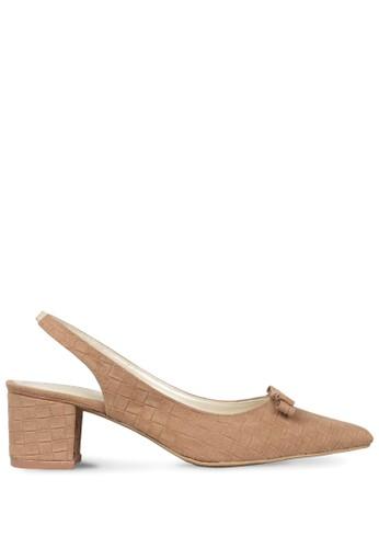 CLAYMORE brown Claymore Mid Low Heels  MZ - 1729 - Moca CL635SH0UPB4ID_1