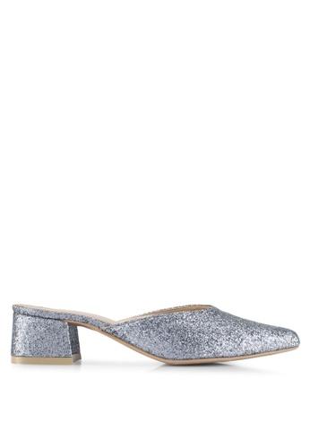 Cipela For Lubna blue Cora Mule Block Heels DEE04SH855273CGS_1