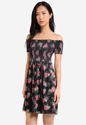 ZALORA black Essential Smocked Dress 6843EAA3755175GS_1