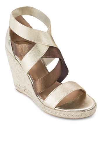 雙色帶esprit台灣網頁麻編楔形鞋, 韓系時尚, 梳妝