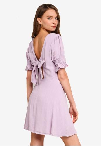 Sável purple Amalia Mini Dress 79C9AAA44A02D7GS_1