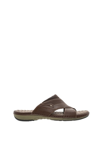 SEMBONIA brown Men Synthetic Leather Sandal SE598SH0SZ8EMY_1