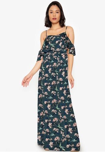 Purple Shore blue Printed Long Dress BA614AAEA607ACGS_1