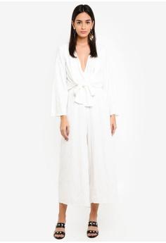 b81fb0806f 60% OFF TOPSHOP Jacq Knot Jumpsuit RM 309.00 NOW RM 123.90 Sizes 12