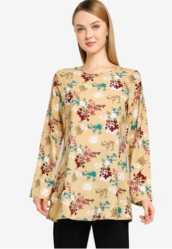 Aqeela Muslimah Wear yellow Basic Top 5897FAA3601395GS_1