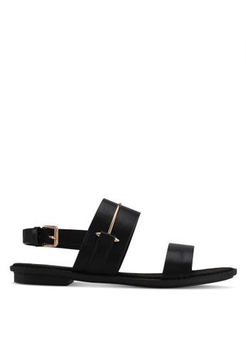 Something Borrowed black Sandals With Metal Detail 31279SHA9BA523GS_1