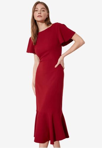 Trendyol red Mermaid Midi Dress 140E7AAFF19BBBGS_1