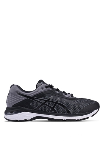Asics black and grey GT-2000 6 Shoes 92854SH237FE43GS_1