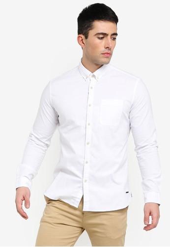 ESPRIT white Woven Long Sleeve Shirt 86FE7AAE401DFEGS_1
