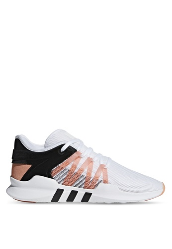 adidas black and white and beige adidas originals eqt racing adv shoes AD372SH0SULGMY_1
