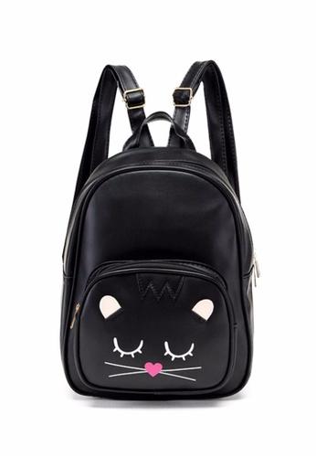TCWK black TCWK Korea Style Black PU Leather Handbag TC258AC0SI4FMY_1