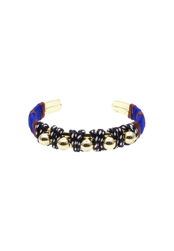 LUCCACAL black and multi and gold Amaya Bangle LU294AC53JIOMY_1