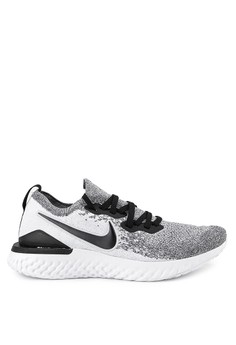 competitive price f74d4 9e72b Nike black and white Nike Epic React Flyknit 2 Shoes 52C72SHE00D24AGS_1