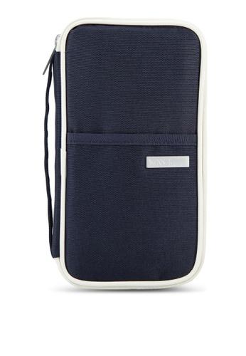 Bagstationz blue Hand Grab Travel Zip-Up Passport Wallet BA607AC88LQPMY_1