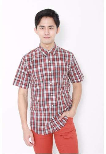 Dockers brown Dockers Easy Casual Short Sleeve Shirt Bullock Arabian Spice DO282AA0FVZESG_1