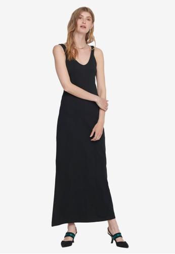 ONLY black May V-neck Dress E2E72AADAF4479GS_1