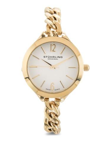 esprit 內衣Stuhrling Original 624M.02 Vogue 鏈帶圓框女錶, 錶類, 飾品配件