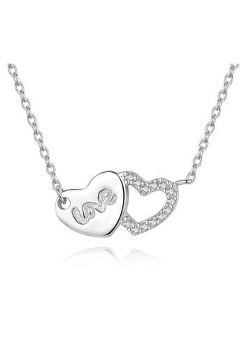 SUNRAIS silver Premium Silver S925 Silver Heart Necklace 4AFADAC2FD0244GS_1
