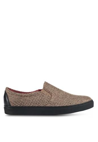 ACUTO brown Weave Slip-On Sneakers AC283SH0SL7QMY_1