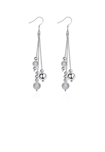 Glamorousky silver Simple Water Drop-shaped Long Earrings A6798ACB4F316BGS_1