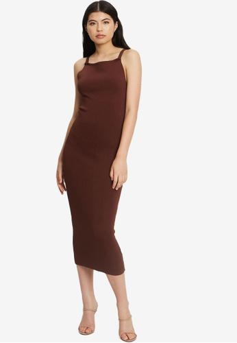 Tussah brown Claudia Knit Dress 7B237AAF47A83FGS_1