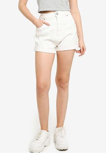 Cotton On white High Rise Classic Stretch Denim Shorts BECACAABCC83B9GS_1