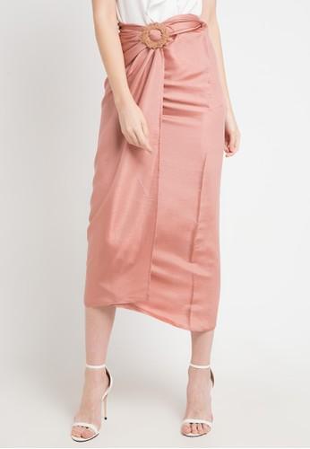 LUIRE by Raden Sirait pink Dc-Skirt 7F924AA95A7B1CGS_1