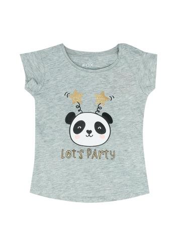 FOX Kids & Baby grey Baby Girl Short Sleeve Tee D726EKAF1CAE5BGS_1