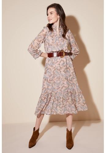 DeFacto pink Woman Long Sleeve Woven Dress B0632AAE5D0426GS_1