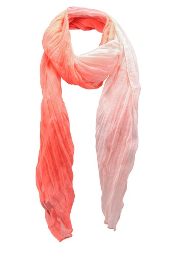 OVS orange Creased Effect Faded Woven Scarf 6B343ACAB93EF5GS_1