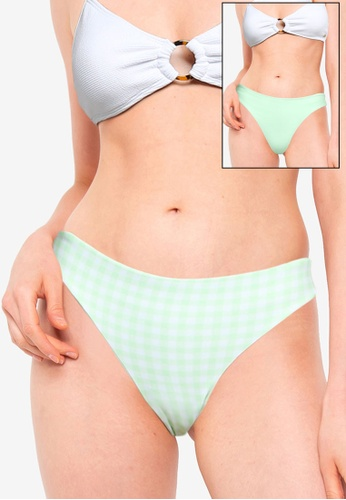 Hollister green Reversible Cheeky Bikini Bottom 116F9US17994C0GS_1