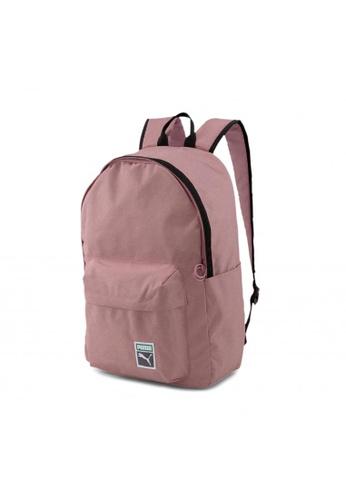 Puma pink Originals Retro Backpack 5BFECACAF73F8AGS_1