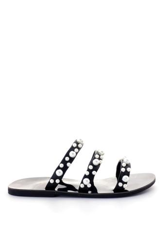 MINKA black YVES Black Pearl Sandal 62C12SH6E95985GS_1