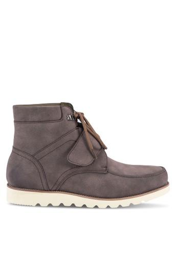 軍事風仿esprit 童裝皮短靴, 鞋, 鞋
