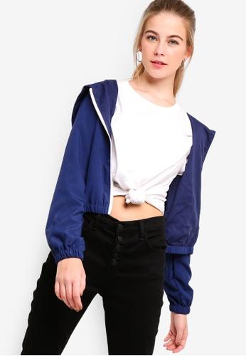 Something Borrowed blue Hooded Jacket 985B4AA334C27FGS_1