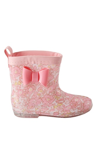 Twenty Eight Shoes 粉紅色 VANSA 時尚短筒雨靴 VSK-R004 B4BFEKS7F37354GS_1