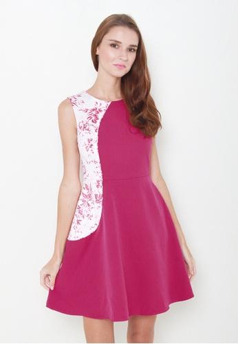 Leline Style pink Koel Floral Dress LE802AA08IOLSG_1