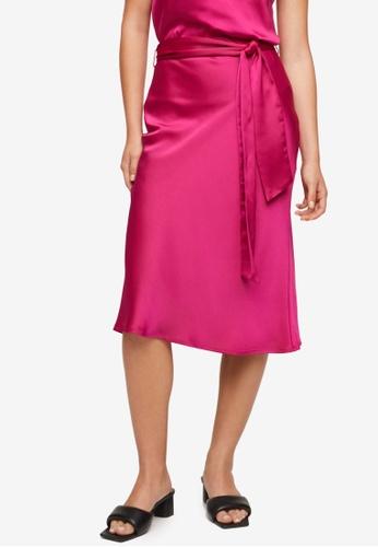 Mango 粉紅色 Bow 綢緞 Skirt E6B67AAD8E07F8GS_1