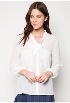 Long Sleeved Shirt with Ribbon