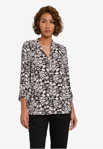 Dorothy Perkins pink Blush Floral Roll Sleeve DO816AA0S08UMY_1