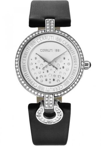 CERRUTI 1881 black Ferrara II Black Strap Silver Dial Ladies Watch CE514AC59QNSMY_1