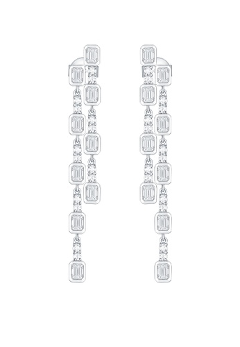 Vedantti 白色 Vedantti 18K 璀璨系列-白金耳墜 1A527ACE3AA15FGS_1