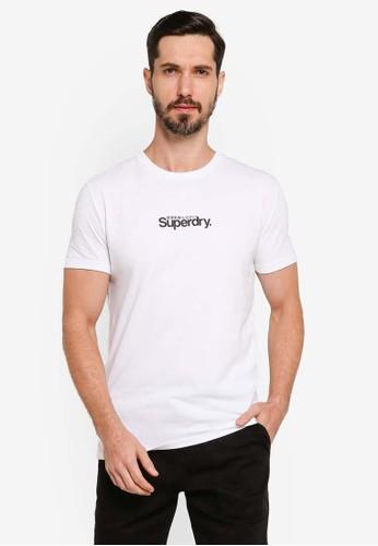Superdry white Core Logo Essential Tee 6901BAA91A9615GS_1