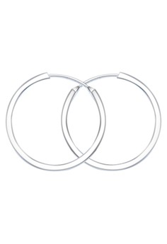 Polish Square Tube Loop Earring