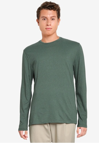 Old Navy green Soft-Washed Long-Sleeves Tee FD0FDAAF39EB3BGS_1