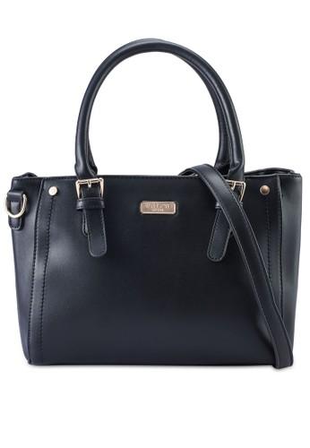 Unisa black Faux Leather Convertible Top Hand Bag 09849AC2F4C06DGS_1